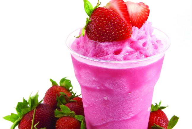 The Joy of Kosher Green Tea, Basil and Strawberry smoothie by Tamar Genger