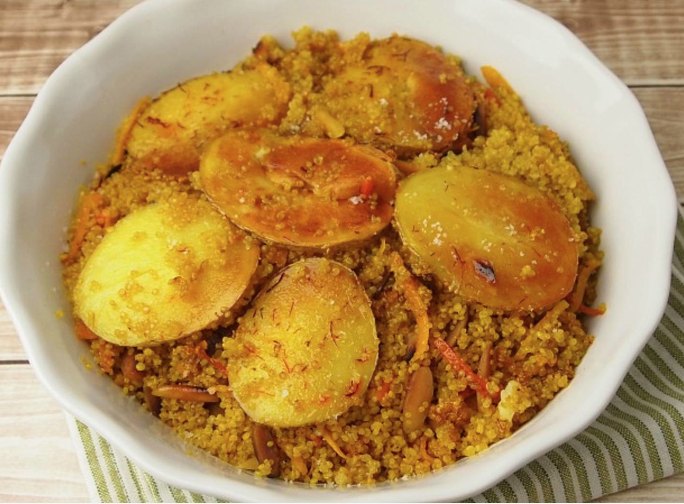 Persian Quinoa with Tadig by Tamar Genger from JoyofKosher.com