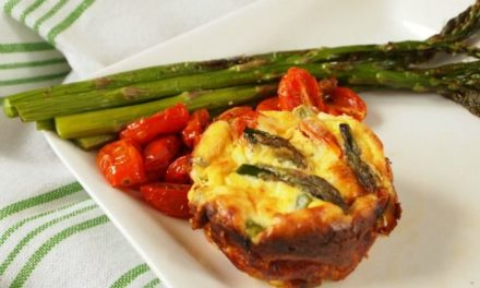 JoyofKosher's Mini Crustless Quiches with Asparagus and Oven Dried Tomatoes by Tamar Genger